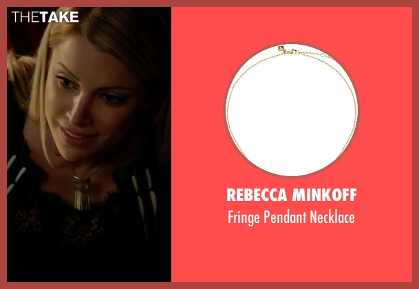 Rebecca Minkoff gold necklace from The Vampire Diaries seen with Mary Louise (Teressa Liane)