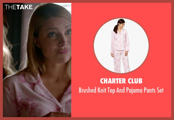Charter Club pink set from The Vampire Diaries seen with Mary Louise (Teressa Liane)