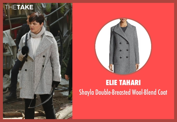 Elie Tahari gray coat from Once Upon a Time seen with Mary Margaret Blanchard / Snow White (Ginnifer Goodwin)