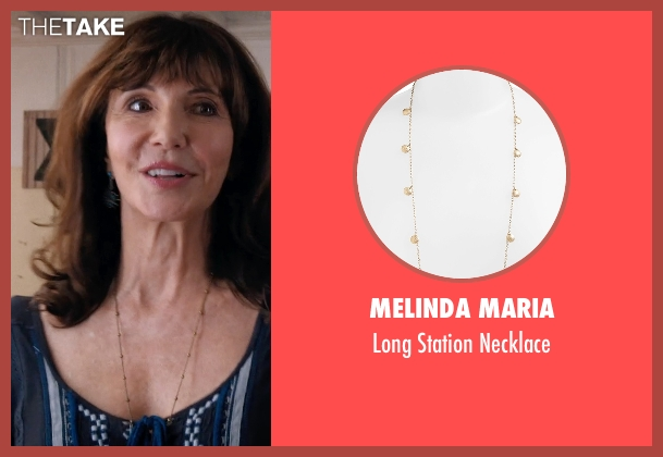 Melinda Maria gold necklace from A Walk in the Woods seen with Mary Steenburgen (Jeannie)