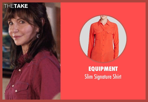Equipment red shirt from A Walk in the Woods seen with Mary Steenburgen (Jeannie)