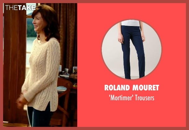 Roland Mouret blue trousers from The Proposal seen with Mary Steenburgen (Grace Paxton)
