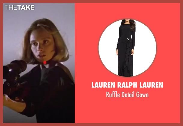Lauren Ralph Lauren black gown from The Living Daylights seen with Maryam d'Abo (Kara Milovy)