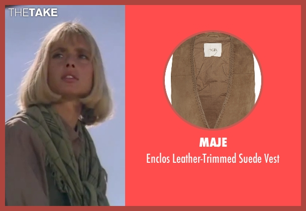 Maje brown vest from The Living Daylights seen with Maryam d'Abo (Kara Milovy)