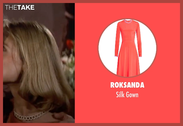 Roksanda orange gown from The Living Daylights seen with Maryam d'Abo (Kara Milovy)