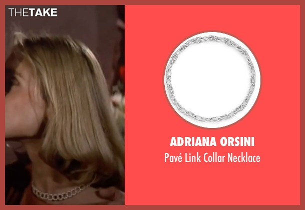 Adriana Orsini silver necklace from The Living Daylights seen with Maryam d'Abo (Kara Milovy)