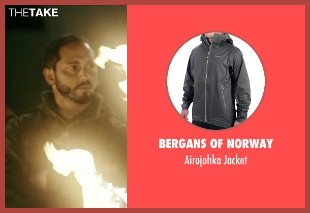 Bergans Of Norway gray jacket from Point Break seen with Matias Varela (Grommet)