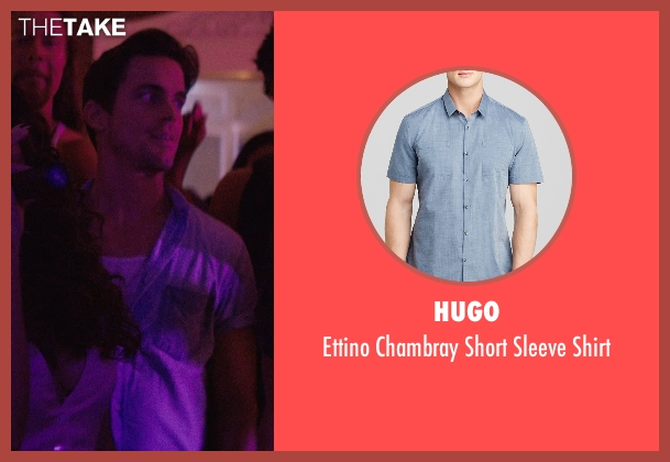 Hugo blue shirt from Magic Mike XXL seen with Matt Bomer (Ken)