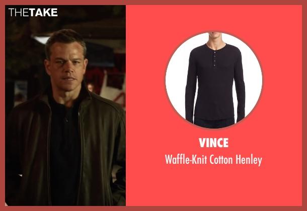 Vince black henley from Jason Bourne seen with Matt Damon (Jason Bourne)