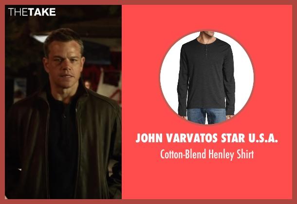 American Rag  black shirt from Jason Bourne seen with Matt Damon (Jason Bourne)