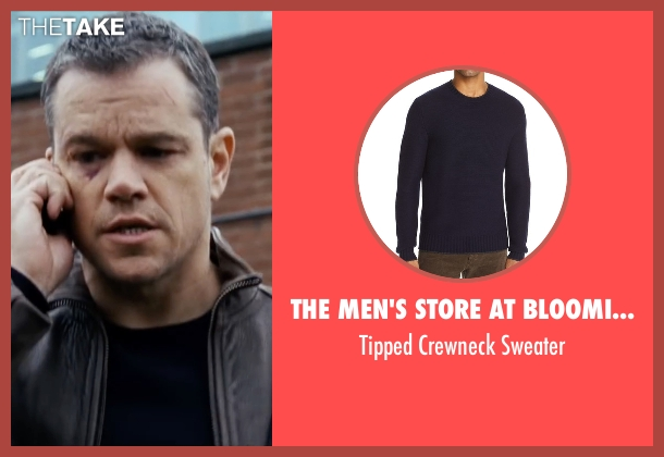 Moncler blue sweater from Jason Bourne seen with Matt Damon (Jason Bourne)
