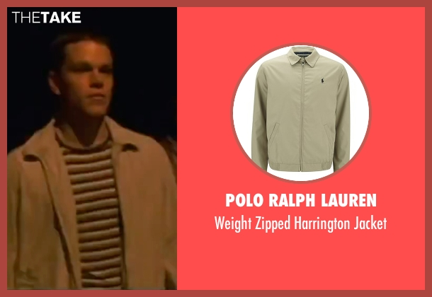 Polo Ralph Lauren beige jacket from Ocean's Eleven seen with Matt Damon (Linus Caldwell)