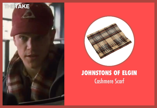 Johnstons Of Elgin brown scarf from Ocean's Eleven seen with Matt Damon (Linus Caldwell)
