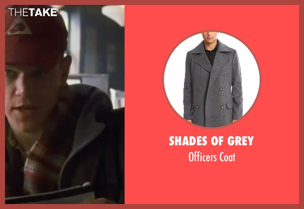 Shades of Grey gray coat from Ocean's Eleven seen with Matt Damon (Linus Caldwell)