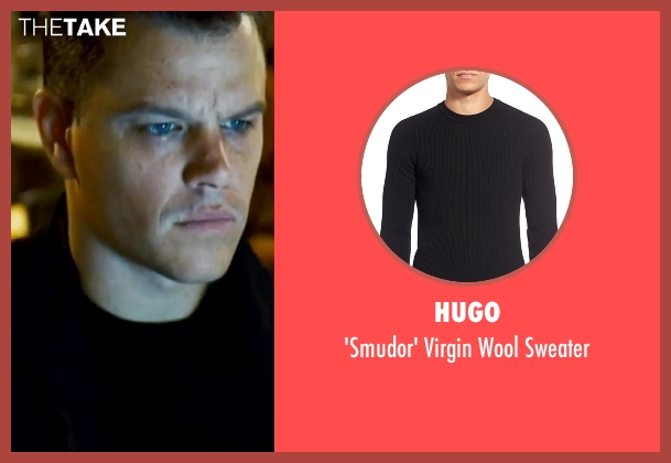 Hugo black sweater from The Bourne Ultimatum seen with Matt Damon (Jason Bourne)