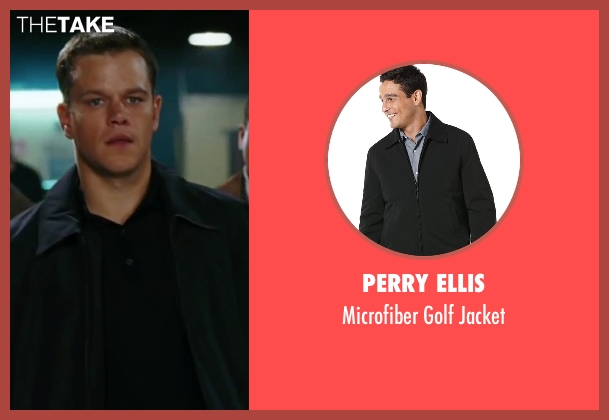 Perry Ellis black jacket from The Departed seen with Matt Damon (Colin Sullivan)