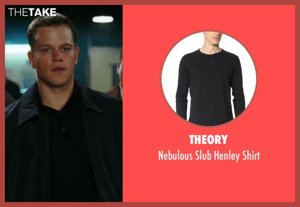 Theory black shirt from The Departed seen with Matt Damon (Colin Sullivan)
