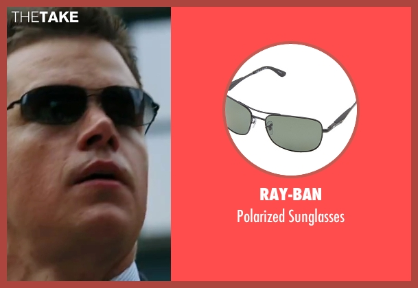 Ray-Ban black sunglasses from The Departed seen with Matt Damon (Colin Sullivan)