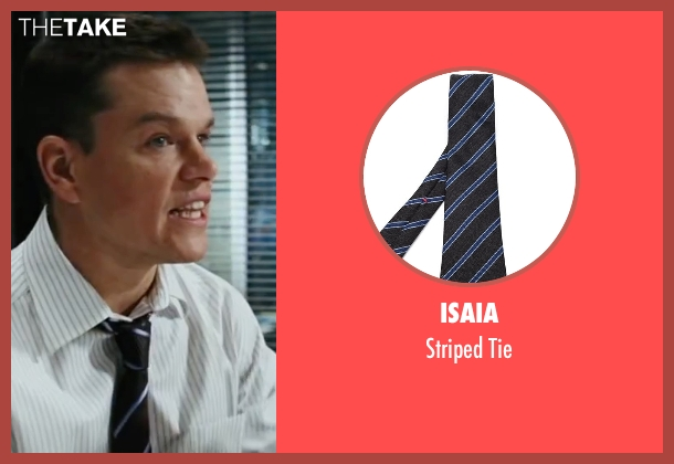 Isaia black tie from The Departed seen with Matt Damon (Colin Sullivan)