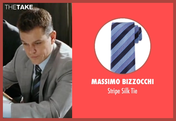 Massimo Bizzocchi	 blue tie from The Departed seen with Matt Damon (Colin Sullivan)
