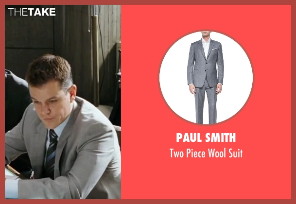 Paul Smith gray suit from The Departed seen with Matt Damon (Colin Sullivan)