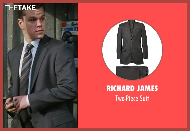 Richard James gray suit from The Departed seen with Matt Damon (Colin Sullivan)
