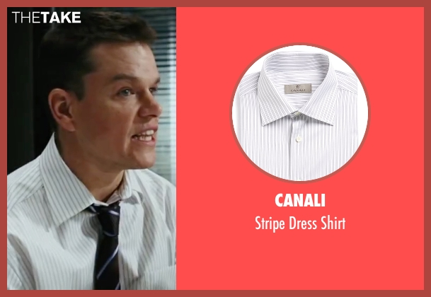 Canali white shirt from The Departed seen with Matt Damon (Colin Sullivan)