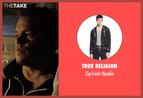 True Religion black hoodie from The Martian seen with Matt Damon (Mark Watney)