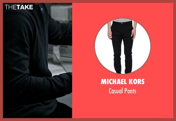 Michael Kors black pants from The Martian seen with Matt Damon (Mark Watney)