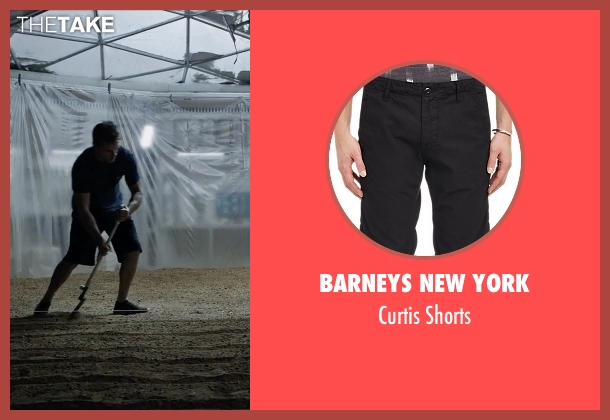 Barneys New York black shorts from The Martian seen with Matt Damon (Mark Watney)