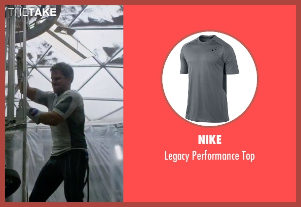Nike gray top from The Martian seen with Matt Damon (Mark Watney)