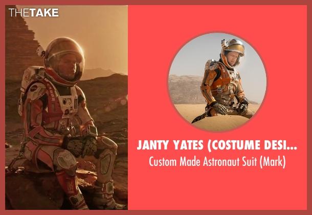 Janty Yates (Costume Designer) suit from The Martian seen with Matt Damon (Mark Watney)