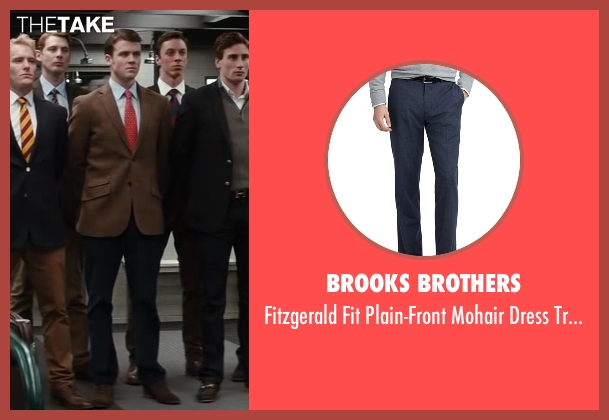 Brooks Brothers blue trousers from Kingsman: The Secret Service seen with Matt Hookings (Young Arthur)