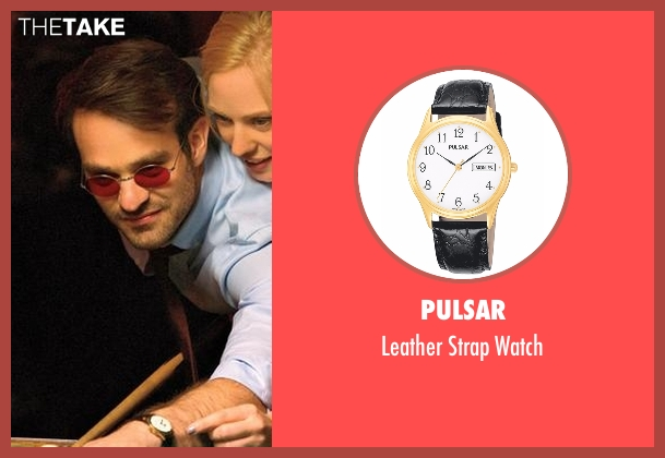 Pulsar black watch from Daredevil seen with Matt Murdock / Daredevil (Charlie Cox)