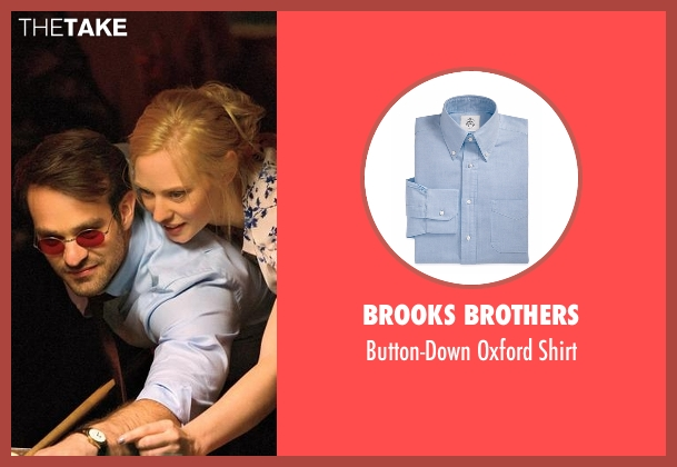Brooks Brothers blue shirt from Daredevil seen with Matt Murdock / Daredevil (Charlie Cox)