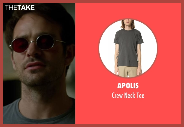 Apolis gray tee from Daredevil seen with Matt Murdock / Daredevil (Charlie Cox)