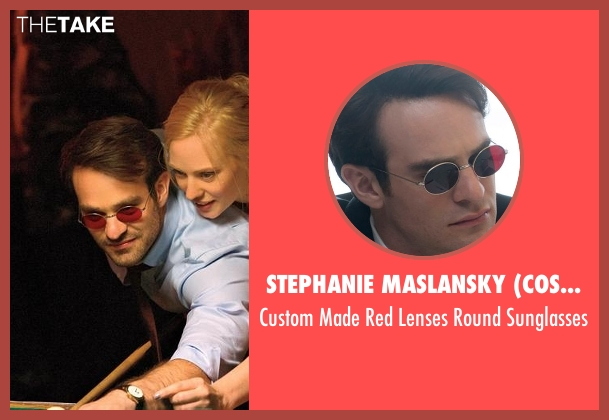 Stephanie Maslansky (Costume Designer) red sunglasses from Daredevil seen with Matt Murdock / Daredevil (Charlie Cox)