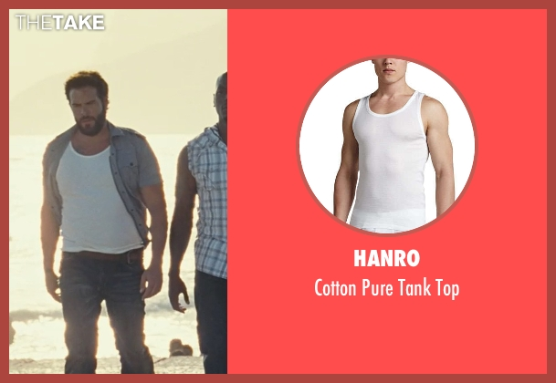 Hanro white top from Fast Five seen with Matt Schulze (Vince)