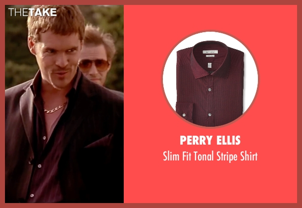 Perry Ellis red shirt from The Transporter seen with Matt Schulze (Wall Street)