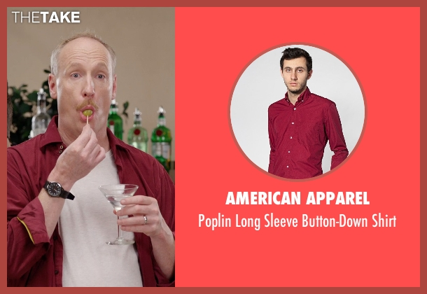 American Apparel red shirt from Get Hard seen with Matt Walsh (Unknown Character)