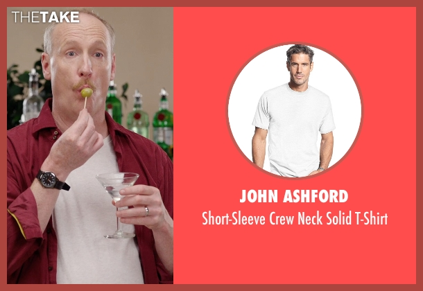 John Ashford white t-shirt from Get Hard seen with Matt Walsh (Unknown Character)