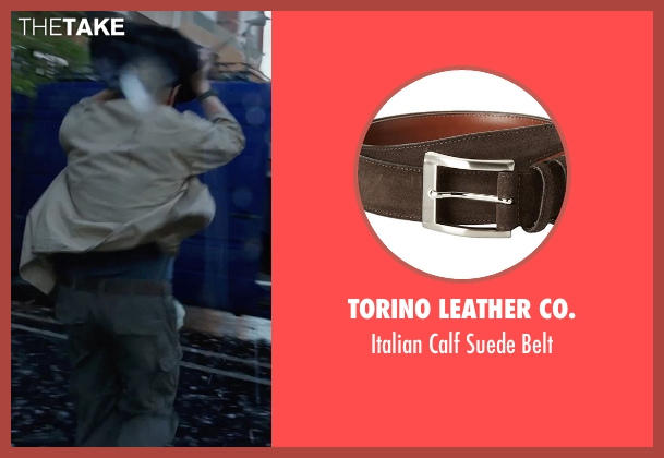 Torino Leather Co. brown belt from Into the Storm seen with Matt Walsh (Pete)