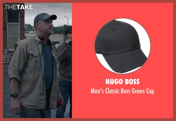 Hugo Boss gray cap from Into the Storm seen with Matt Walsh (Pete)