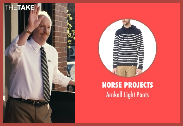 Norse Projects beige pants from Ted seen with Matt Walsh (Thomas)