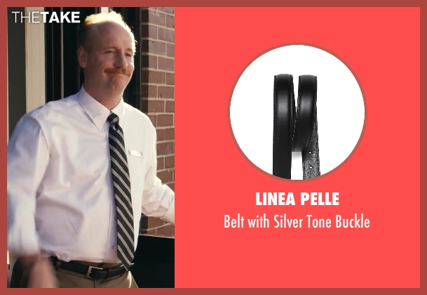 Linea Pelle black buckle from Ted seen with Matt Walsh (Thomas)