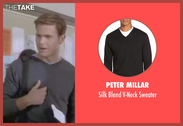 Peter Millar black sweater from Legally Blonde seen with Matthew Davis (Warner)