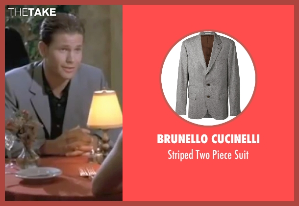 Brunello Cucinelli gray suit from Legally Blonde seen with Matthew Davis (Warner)