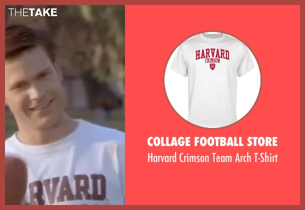 Collage Football Store white t-shirt from Legally Blonde seen with Matthew Davis (Warner)