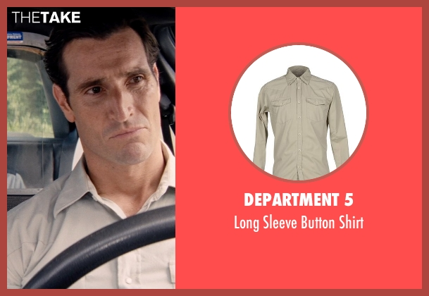 Department 5 beige shirt from Hot Pursuit seen with Matthew Del Negro (Hauser)