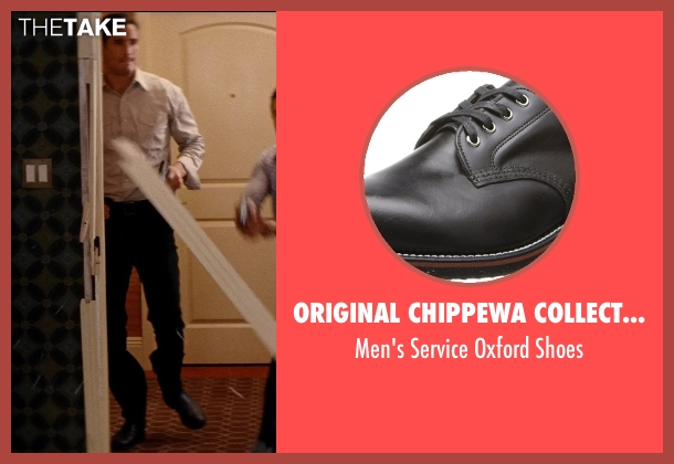 Original Chippewa Collection black shoes from Hot Pursuit seen with Matthew Del Negro (Hauser)